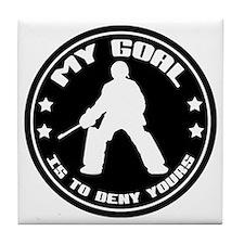 My Goal, Field Hockey Goalie Tile Coaster