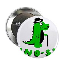 "Funny DINO-SIR dinosaur design 2.25"" Button"