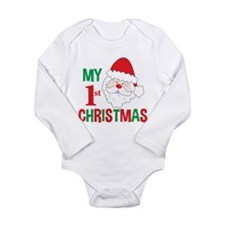 My 1st Christmas Santa Claus Long Sleeve Infant Bo