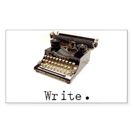 Typewriter Oval Sticker