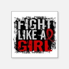 "Fight Like a Girl 31.8 Stroke Square Sticker 3"" x"