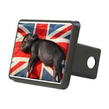 Micro pig sleeping on Union cushion Hitch Cover