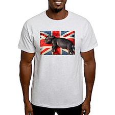 Micro pig sleeping on Union cushion T-Shirt