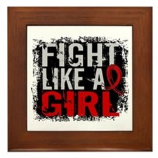 Fight Like a Girl 31.8 Heart Disease Framed Tile
