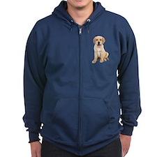 Golden Labrador Zip Hoodie