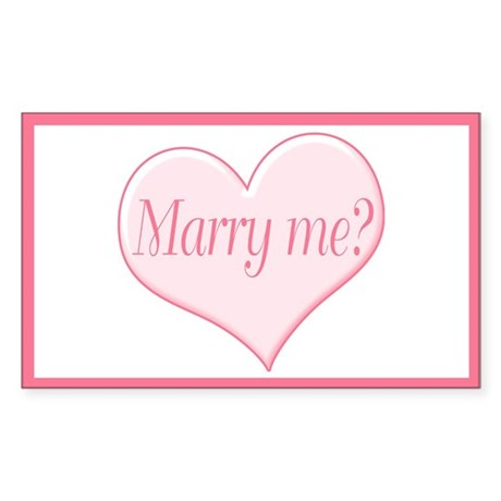 """Marry me?"" Rectangle Sticker"