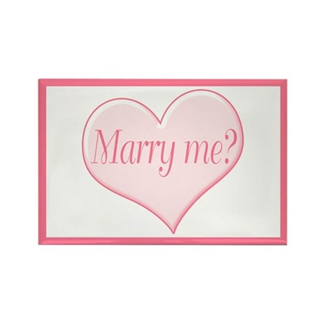 """""""Marry me?"""" Rectangle Magnet"""