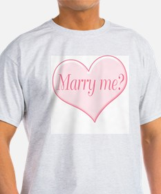 """Marry me?"" Ash Grey T-Shirt"