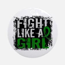 Licensed Fight Like a Girl 31.8 K Ornament (Round)