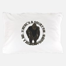 Bigfoot in woods Pillow Case