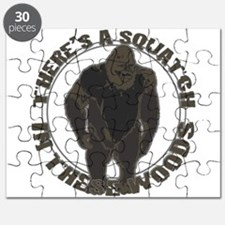 Bigfoot in woods Puzzle