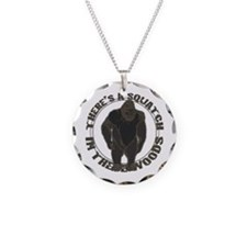 Bigfoot in woods Necklace