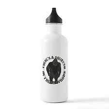 Bigfoot in woods Water Bottle