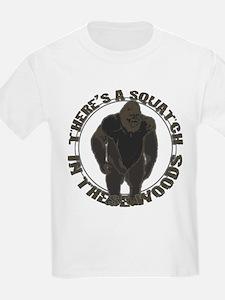 Bigfoot in woods T-Shirt
