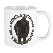 Bigfoot in woods Mug