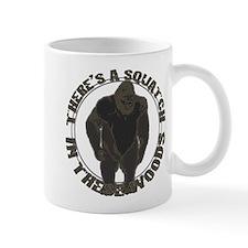 Bigfoot in woods Mug