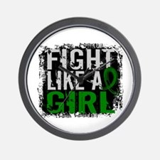 Licensed Fight Like a Girl 31.8 Liver C Wall Clock