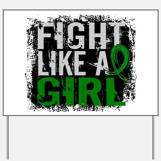 Licensed Fight Like a Girl 31.8 Cerebral Yard Sign