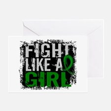 Licensed Fight Like a Girl 31.8 Cere Greeting Card