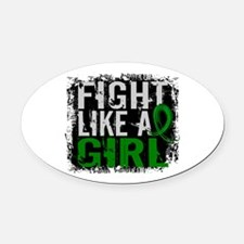 Licensed Fight Like a Girl 31.8 Ce Oval Car Magnet