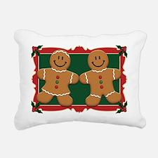 gingerbread_couple2.png Rectangular Canvas Pillow