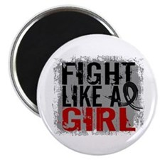 Licensed Fight Like a Girl 31.8 Skin Cancer Magnet
