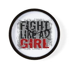 Licensed Fight Like a Girl 31.8 Skin Ca Wall Clock