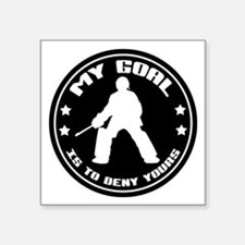My Goal, Field Hockey Goalie Square Sticker 3&quot
