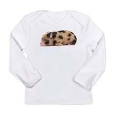 Micro pig sleeping Long Sleeve Infant T-Shirt