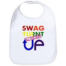 Swag Turnt Up Rainbow Bib