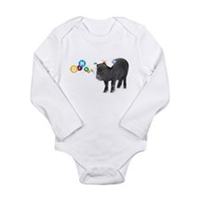 Little female micro pig with bow Long Sleeve Infan
