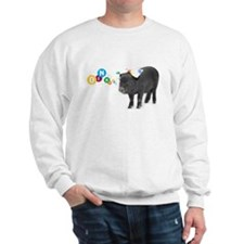 Little female micro pig with bow Sweatshirt