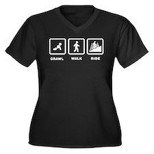 Mountain Biking Women's Plus Size V-Neck Dark T-Sh