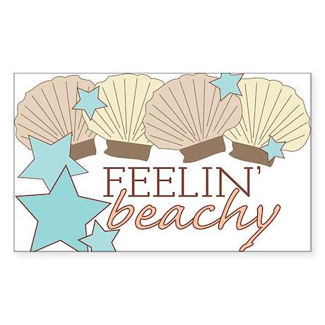 Feelin Beachy Sticker (Rectangle)