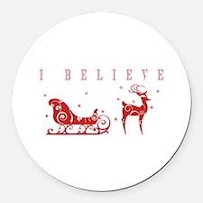 I Believe Round Car Magnet