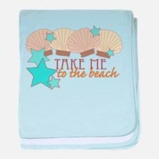 To The Beach baby blanket