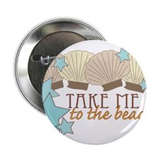 """To The Beach 2.25"""" Button"""