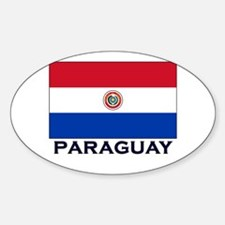 Paraguay Flag Stuff Oval Decal
