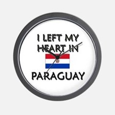 I Left My Heart In Paraguay Wall Clock