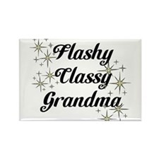 Flashy Classy Grandma Rectangle Magnet