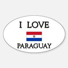 I Love Paraguay Oval Decal