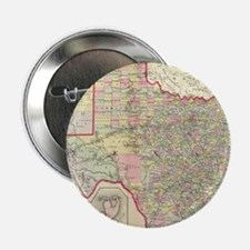 "Vintage Map of Texas (1890) 2.25"" Button"