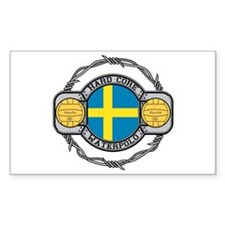 Sweden Water Polo Rectangle Decal