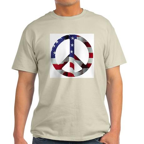 Peace Symbol Flag Ash Grey T-Shirt