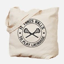 It Takes Balls To Play Lacrosse Tote Bag