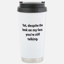 myface.png Stainless Steel Travel Mug