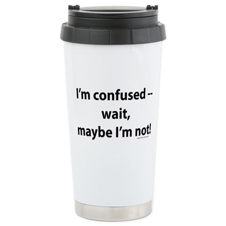 confused.png Stainless Steel Travel Mug