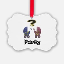 Gender reveal party Ornament