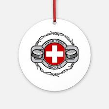 Switzerland Hockey Ornament (Round)