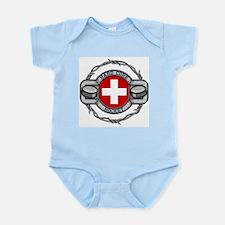 Switzerland Hockey Infant Bodysuit